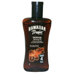 Hawaiian Tropic - Huile De Bronzage Riche SPF 4 - Flacon de 200ml