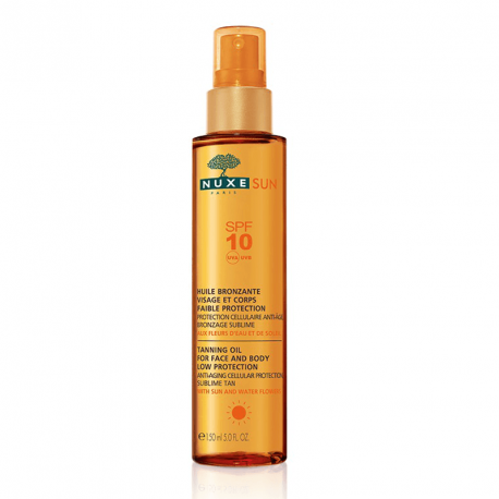 Nuxe Sun - Tanning oil Face and Body SPF 10 - 150ml