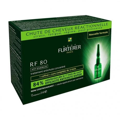 René Furterer - RF 80 ATP Energie Sérum hair loss treatment - 12 bulbs