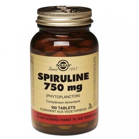 Solgar - Spirulina 750mg - 100 Tablets