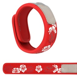 Para'Kito - Bracelet Anti-Moustiques Rouge Hawaii + 2 Recharges