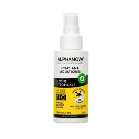 Alphanova - Spray Anti-Moustiques Zones Tropicales Corps - 75ml