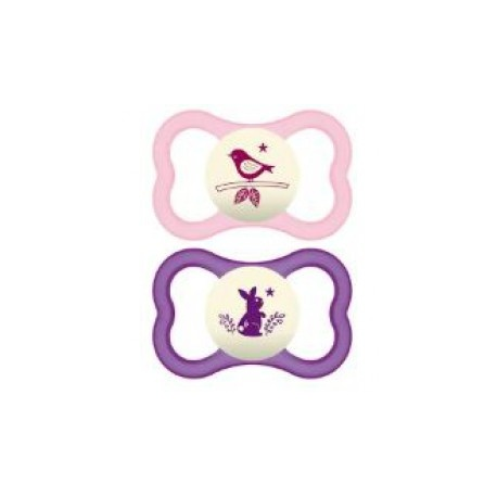 MAM - 2 Sucettes Air Nuit +18 Mois Silicone