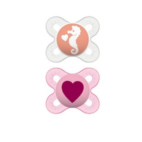 MAM - 2 Sucettes Naissance 0-2 Mois Silicone
